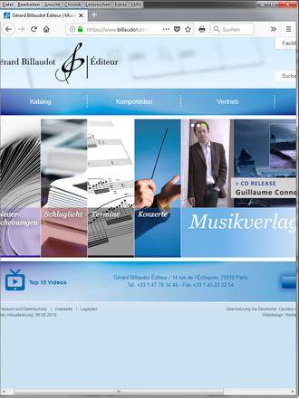 Biografien für die Website eines Pariser Musikverlags
