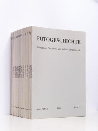 Beiblatt in: Fotogeschichte, Hefte 45–72, 1992–1999
