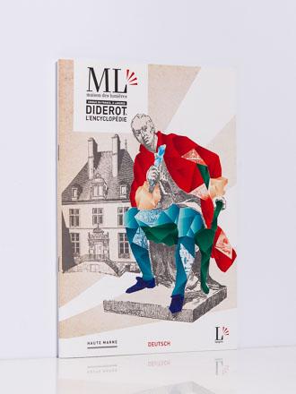 Besucherprospekt für Musée des Lumières Denis Diderot